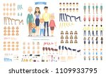 family characters set with... | Shutterstock .eps vector #1109933795