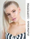 closeup portrait of glamour...   Shutterstock . vector #1109939906