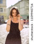 lifestyle portrait of happy...   Shutterstock . vector #1109940716