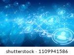 social network connection | Shutterstock . vector #1109941586