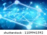 plexus network background | Shutterstock . vector #1109941592