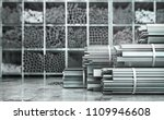 metal rolled products on a... | Shutterstock . vector #1109946608