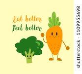 vector of vegetable carrot ... | Shutterstock .eps vector #1109955698