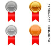medal award vector in four... | Shutterstock .eps vector #1109958362