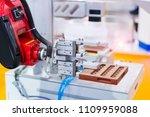 robotic arm machine tool at... | Shutterstock . vector #1109959088