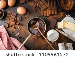 top view of the process of... | Shutterstock . vector #1109961572