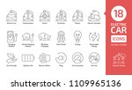 electric vehicle line icon set. ... | Shutterstock .eps vector #1109965136