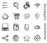 search engine icons freehand  | Shutterstock .eps vector #1109965142