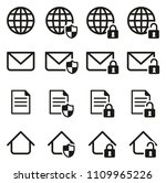 information protection  ... | Shutterstock .eps vector #1109965226