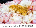raw ground beef meat with... | Shutterstock . vector #1109965682