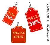 red sale badges labels vector... | Shutterstock .eps vector #1109970215