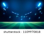 lights at night and football... | Shutterstock . vector #1109970818