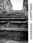 old stone staircase outside in... | Shutterstock . vector #1109976605