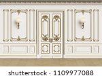 classic interior walls with... | Shutterstock . vector #1109977088