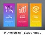 user predictions  efficiency... | Shutterstock .eps vector #1109978882