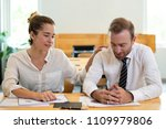 business man and woman working... | Shutterstock . vector #1109979806
