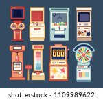 collection of arcade video... | Shutterstock .eps vector #1109989622