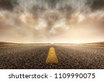 running road highways | Shutterstock . vector #1109990075