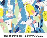creative horizontal artistic... | Shutterstock .eps vector #1109990222