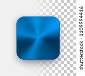blue metal blank app icon ...