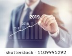 growth in 2019 year concept.... | Shutterstock . vector #1109995292