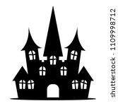 silhouette icon castle | Shutterstock .eps vector #1109998712