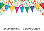 background design with party... | Shutterstock .eps vector #1109999096