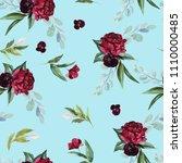 flowers bouquet arrangement on... | Shutterstock . vector #1110000485