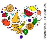 colorful illustration of heart... | Shutterstock . vector #1110005228