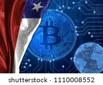 flag of chile against the... | Shutterstock . vector #1110008552
