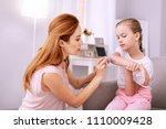nice good looking applying... | Shutterstock . vector #1110009428