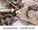 part of the old mechanism with... | Shutterstock . vector #1110012125