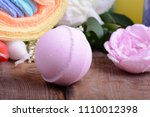 spa theme with candles and... | Shutterstock . vector #1110012398