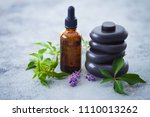 aromatherapy oil with fresh... | Shutterstock . vector #1110013262