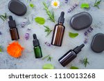 aromatherapy oil with fresh... | Shutterstock . vector #1110013268