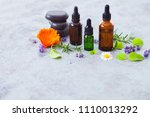 aromatherapy oil with fresh... | Shutterstock . vector #1110013292