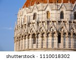 gothic style part of pisa... | Shutterstock . vector #1110018302