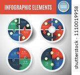 vector circle infographics set. ... | Shutterstock .eps vector #1110019958