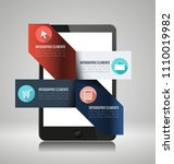 infographic elements on... | Shutterstock .eps vector #1110019982