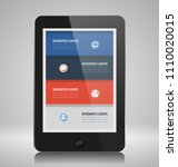 infographic elements on... | Shutterstock .eps vector #1110020015