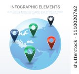 vector world map illustration... | Shutterstock .eps vector #1110020762