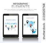 vector world map illustration... | Shutterstock .eps vector #1110020768