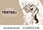 illustration of paintball... | Shutterstock .eps vector #1110031136