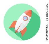 illustration of a rocket on a... | Shutterstock .eps vector #1110032102
