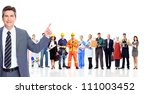 handsome businessman and a... | Shutterstock . vector #111003452