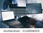 cyber security business... | Shutterstock . vector #1110036425