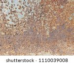 background with rust on steel | Shutterstock . vector #1110039008