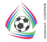 color stripes circle soccer... | Shutterstock .eps vector #1110039698