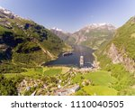 photo of geiranger fjord area ... | Shutterstock . vector #1110040505