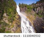 photo of latefossen   rapid... | Shutterstock . vector #1110040532